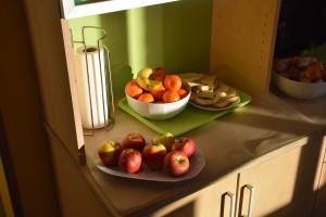 Frisches Obst kommt immer gut an!